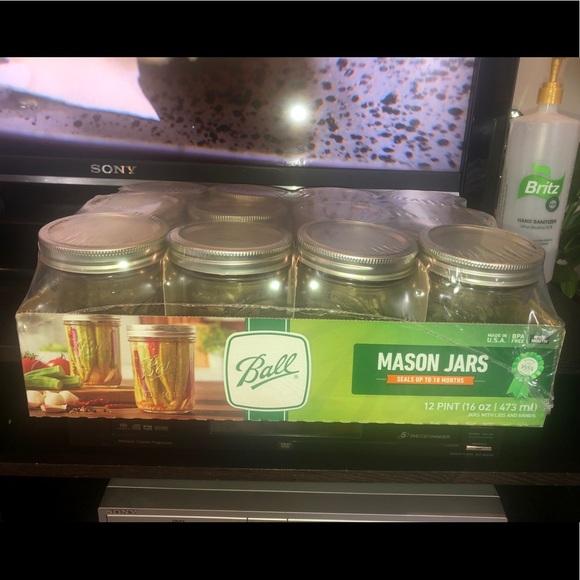 Mason Jars 16oz (Pint) Wide Mouth case of 12